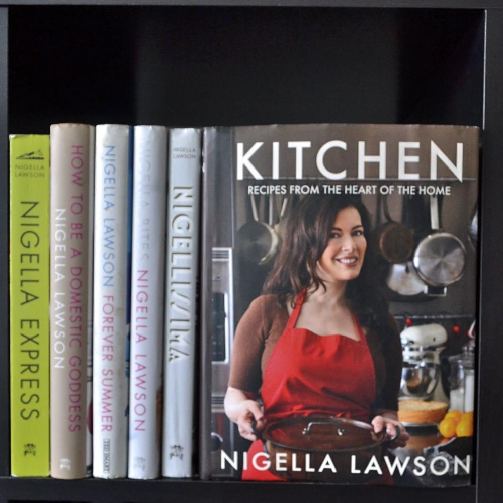 nigella lawson, cookbooks, kitchen, nigella express, nigella bites, how to be a domestic goddess, forever summer, nigellissima