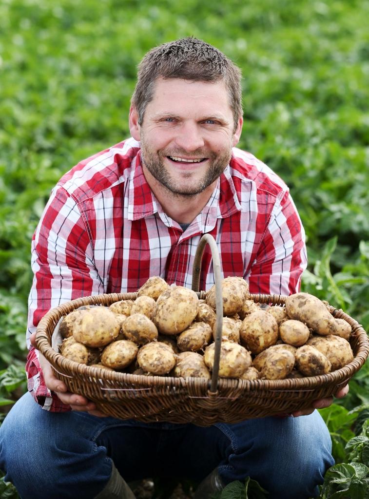 potato producer, irish potatoes, potato supervalu, chris fortune farmer, kilmore potatoes