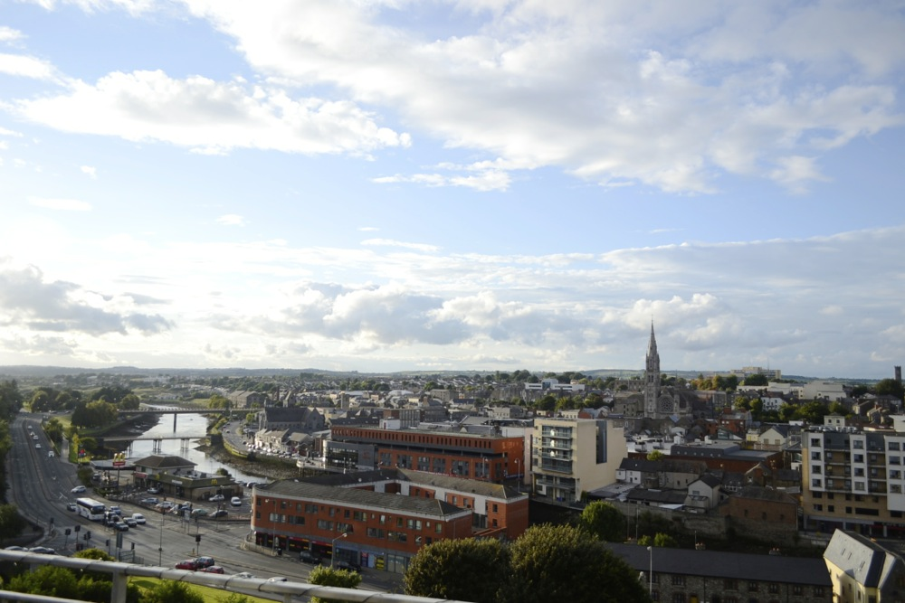 drogheda view, drogheda from above, river boyne view, drogheda town