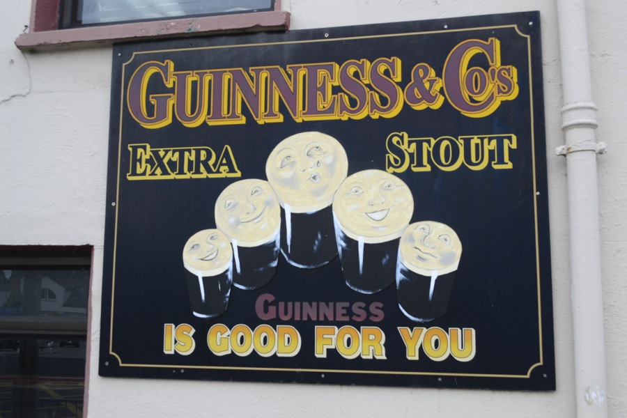 guinness stout, guinness advertisement, guinness sign, vintage guinness
