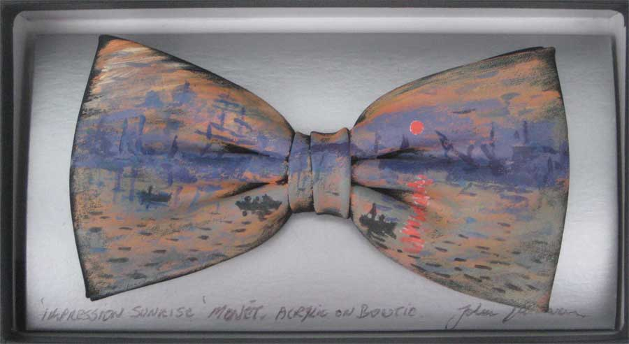 Impression sunrise bow tie by John Kirwan, €75, available at The Keeling Gallery Dublin or on their website