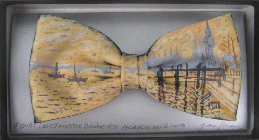 Westminster Bridge bow tie by John Kirwan, €75, available at The Keeling Gallery Dublin or on their website