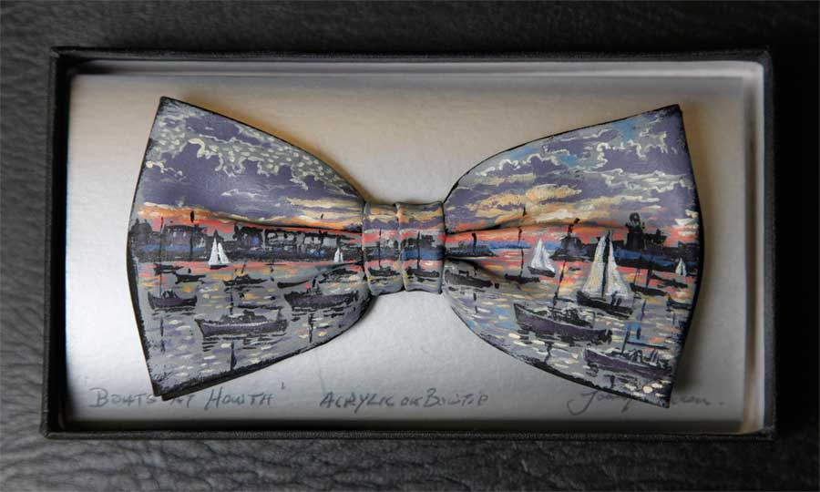 Boats at Howth bow tie by John Kirwan, €75, available at The Keeling Gallery Dublin or on their website