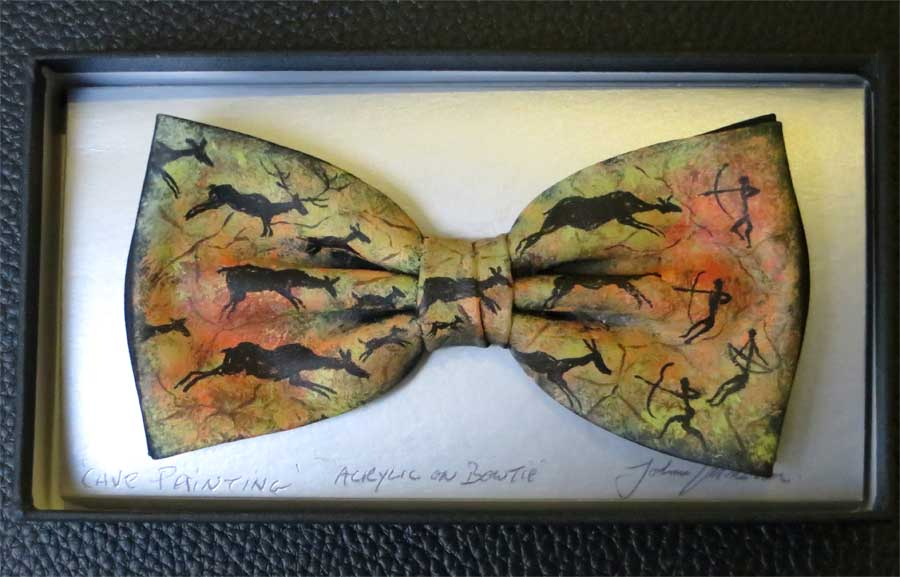 Cave Paiting bow tie by John Kirwan, €75, available at The Keeling Gallery Dublin or on their website