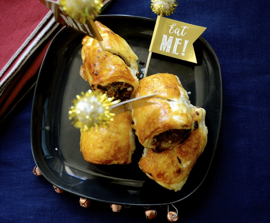 turkey rolls, turkey mince, cranberry sauce