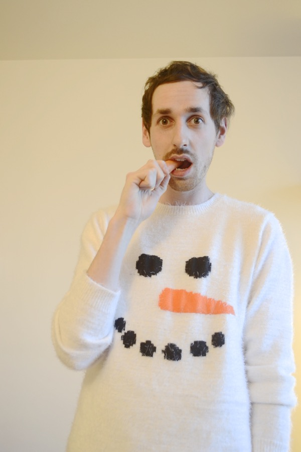 asos jumper, presents jumper, christmas jumper, snowman jumper, mens christmas jumper, christmas sweater,
