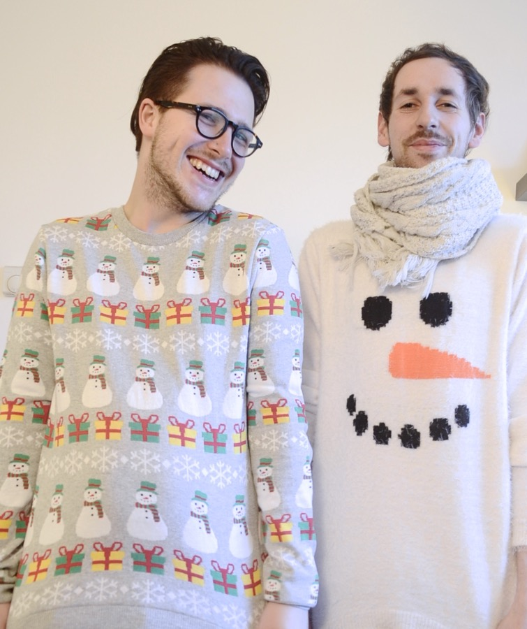 asos jumper, christmas jumper, snowman jumper, mens christmas jumper