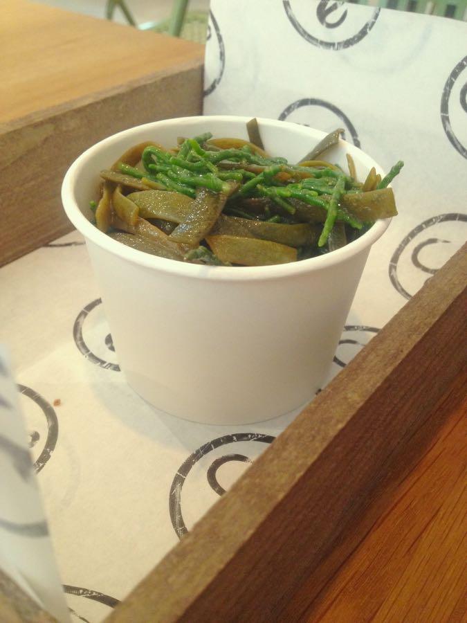 seaweed samphire salad, hook camden town