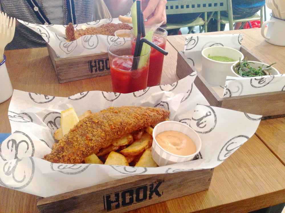hook camden, london fish and chips