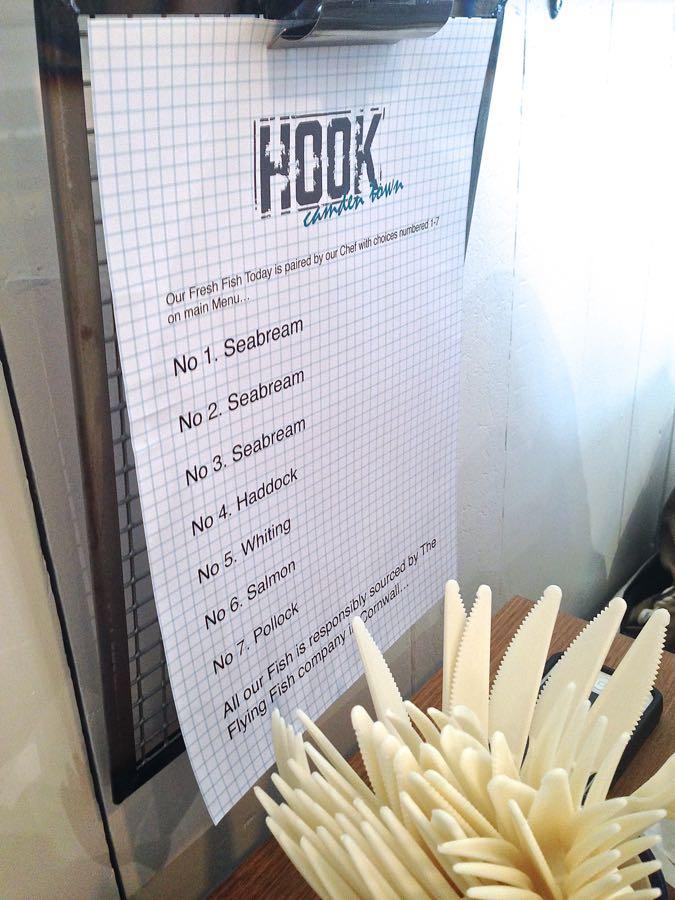 Hook Camden menu