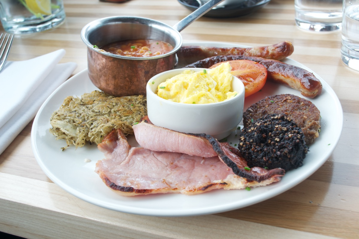 full irish 'works' breakfast sophies dublin