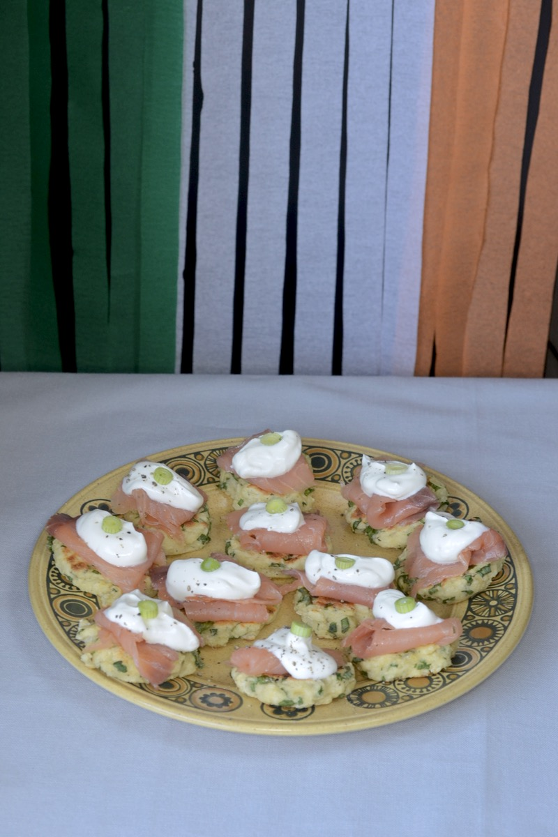 long shot flag irish blinis plate