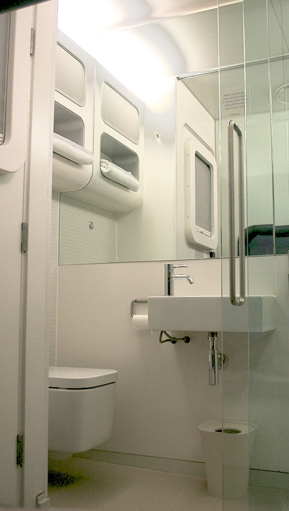 yotel bathroom view