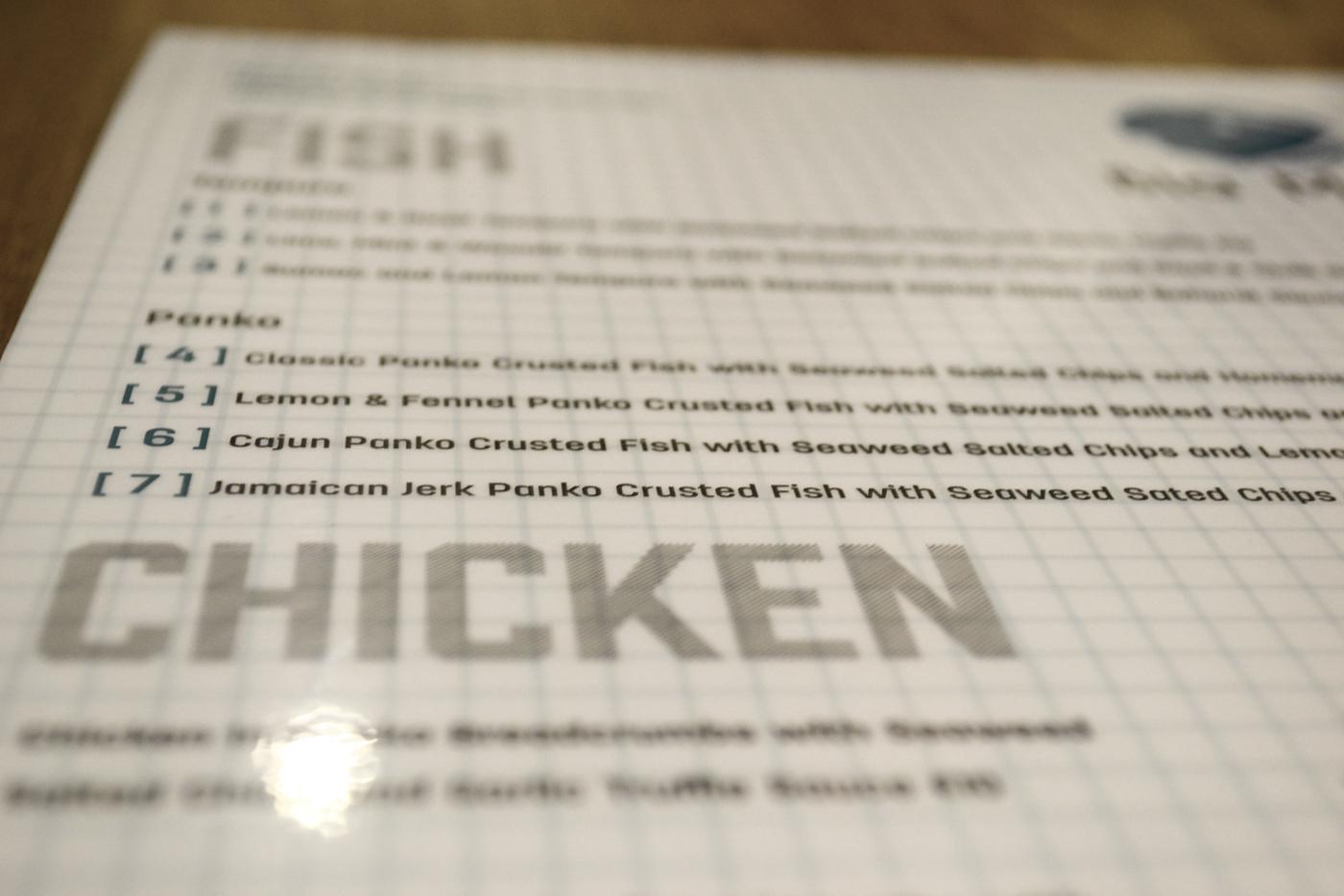 blurred closeup menu biamara