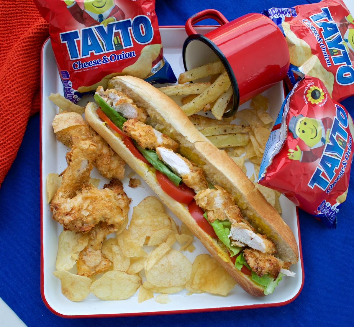 chicken fillet roll, tayto chicken roll, tayto crisps ireland, tayto chicken, crisp breaded chicken, crispy breadcrumb chicken, crispy chicken roll, gastrogays tayto, gastrogays chicken fillet,