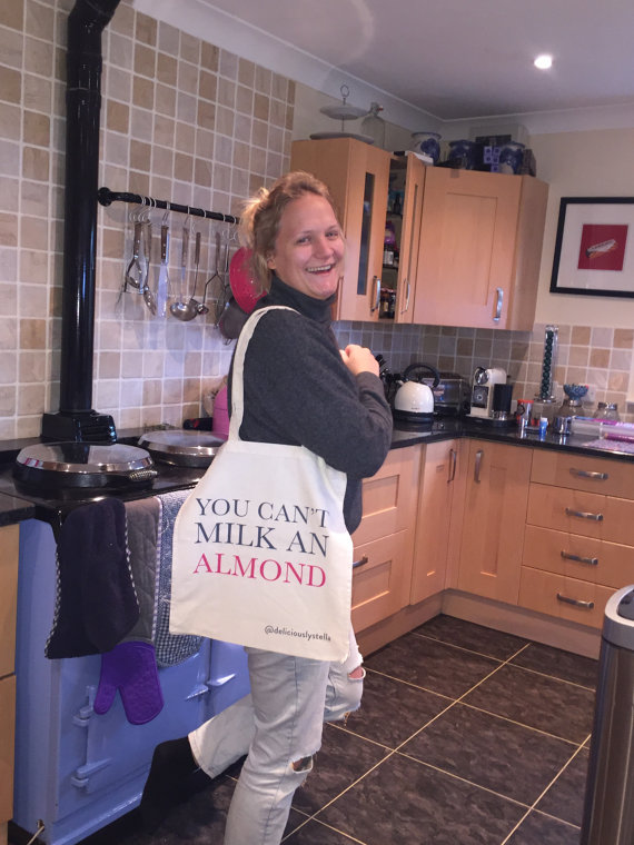 deliciously stella tote bag, deliciously stella shopper, almond shopper bag