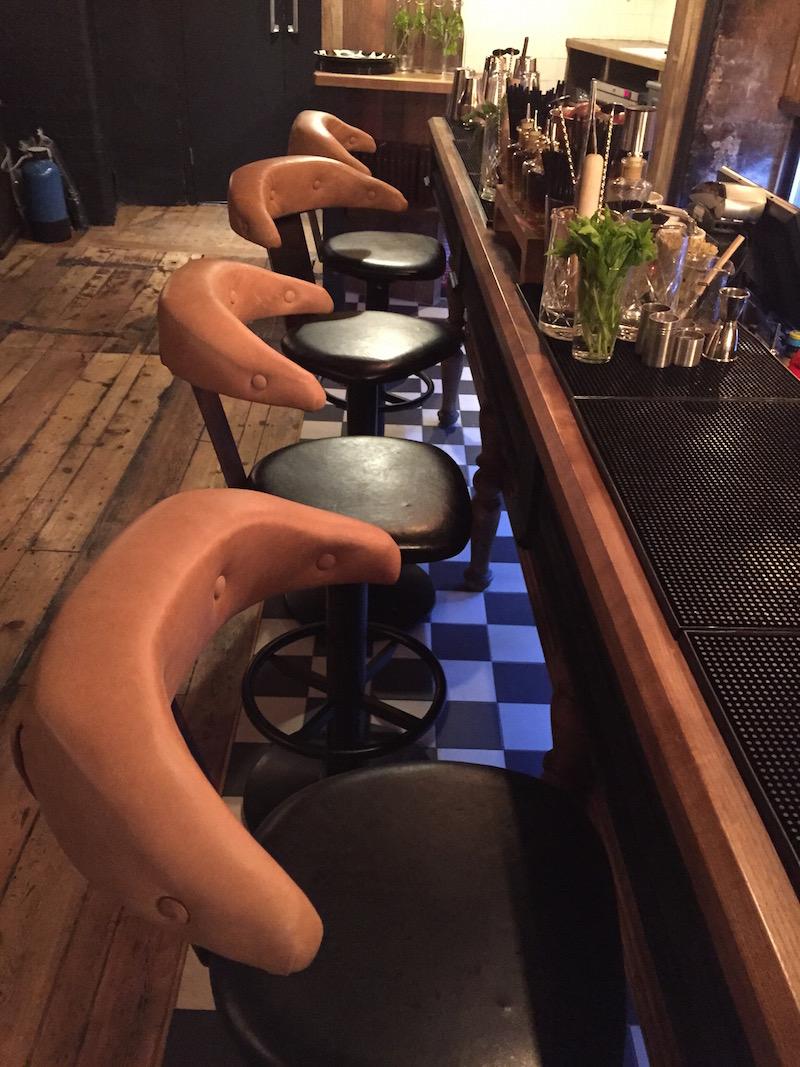 plush leather bar stools