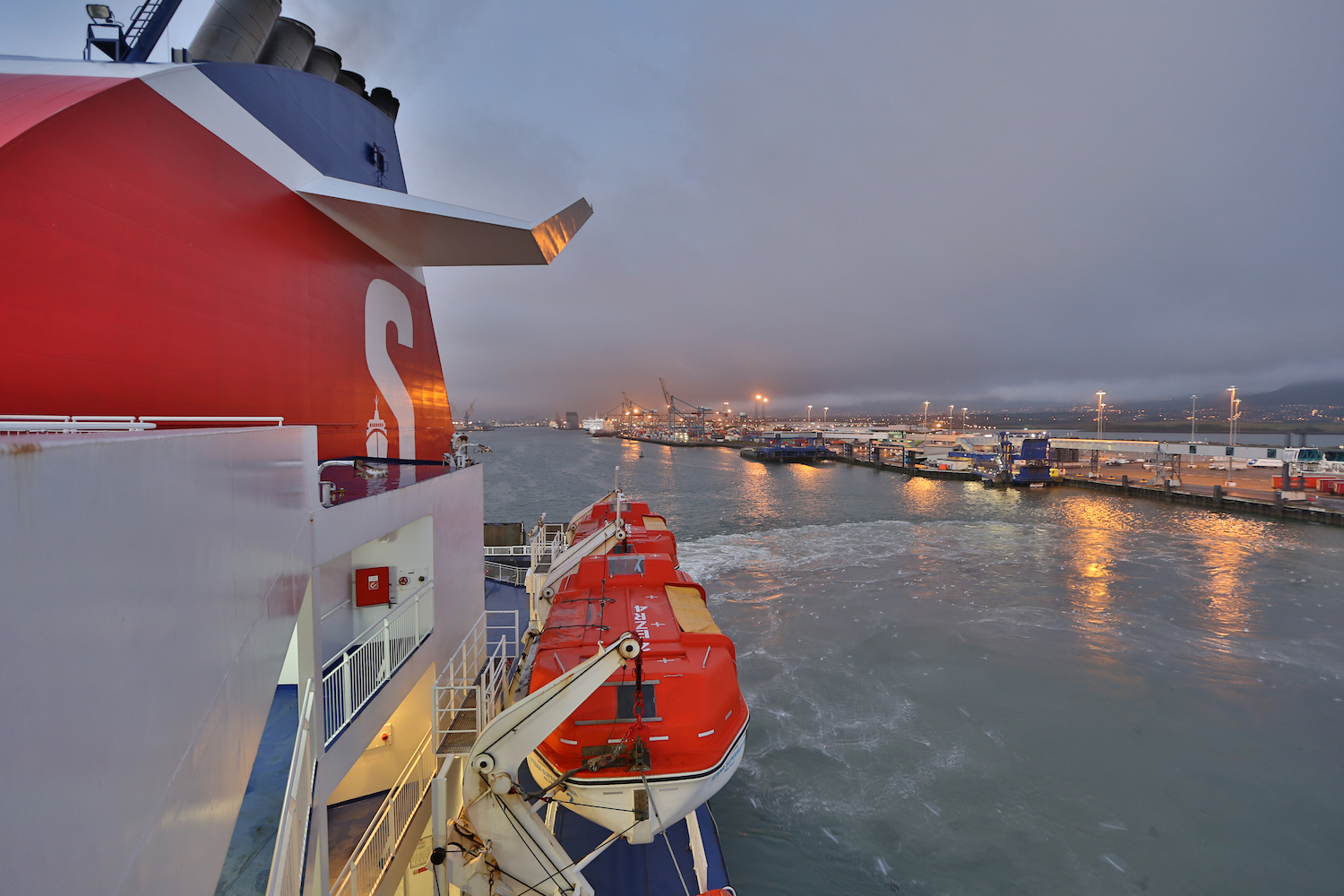 Stenaline ferry boat, Belfast port, Northern Ireland, ferry to Cairnryan Scotland, ferry Ireland United Kingdom