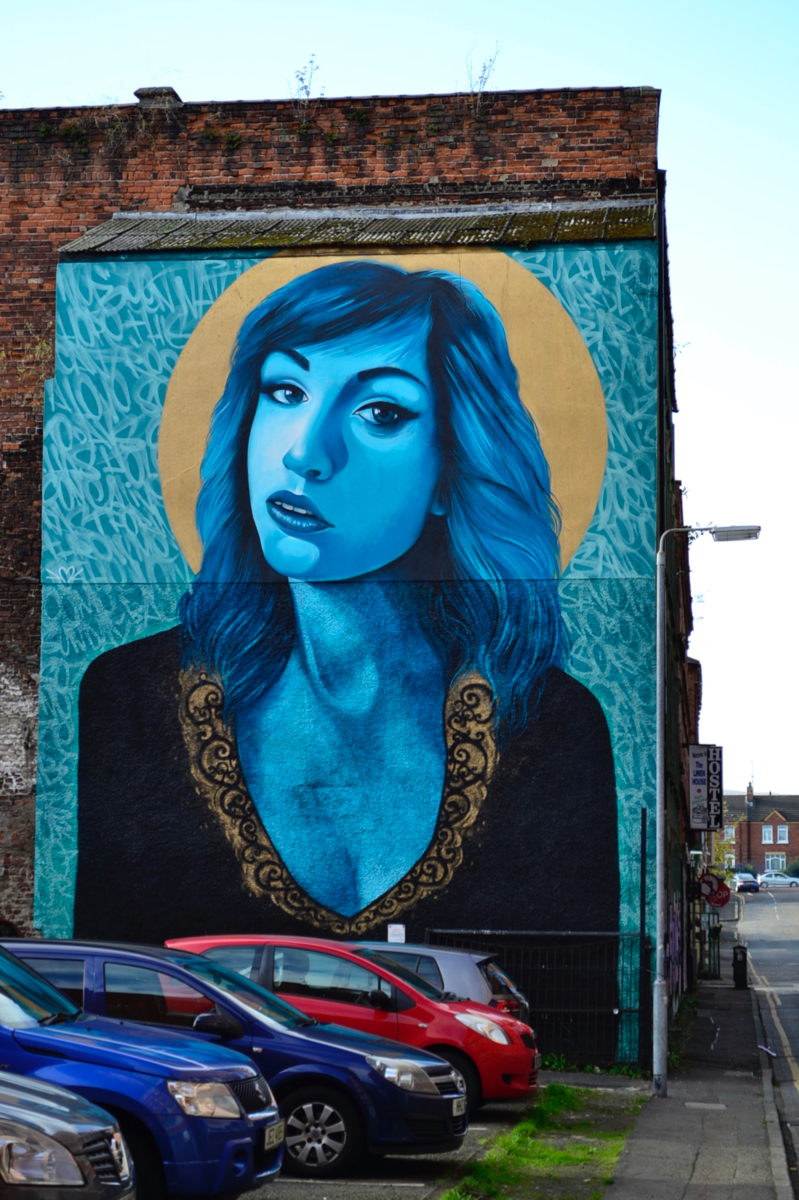 Irish girl street art Belfast