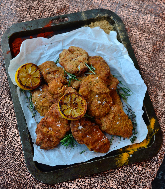 overhead gastrogays fried chicken spices