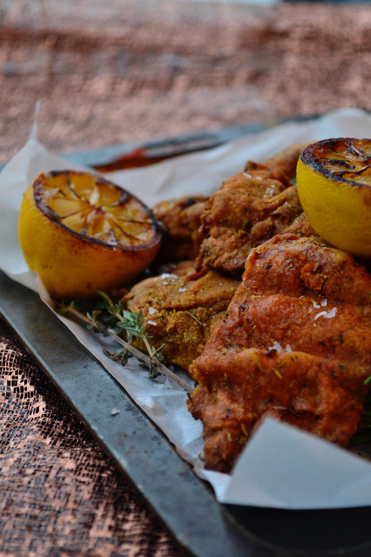 portrait herbs lemon gastrogays fried chicken