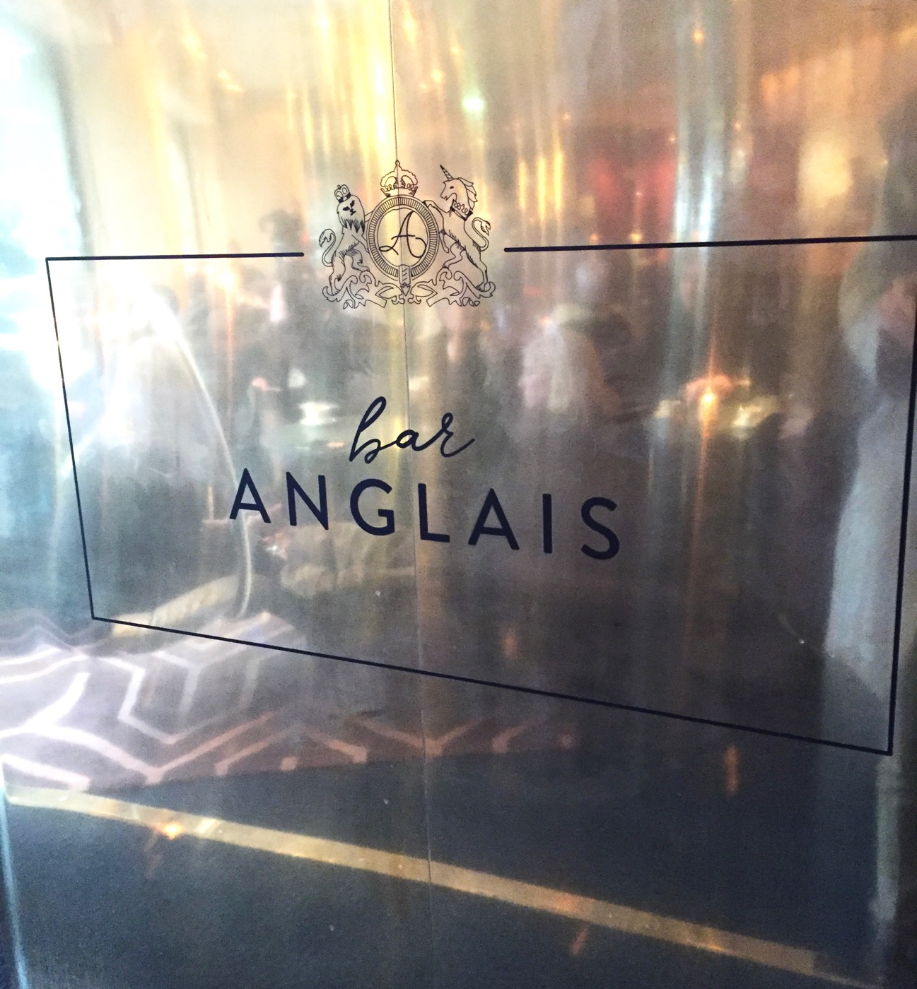 Bar Anglais metal sign scandic stockholm