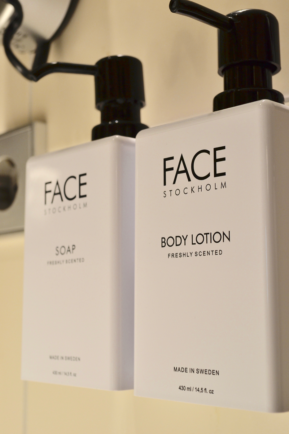 Face cosmetics toiletries Scandic Anglais Stockholm