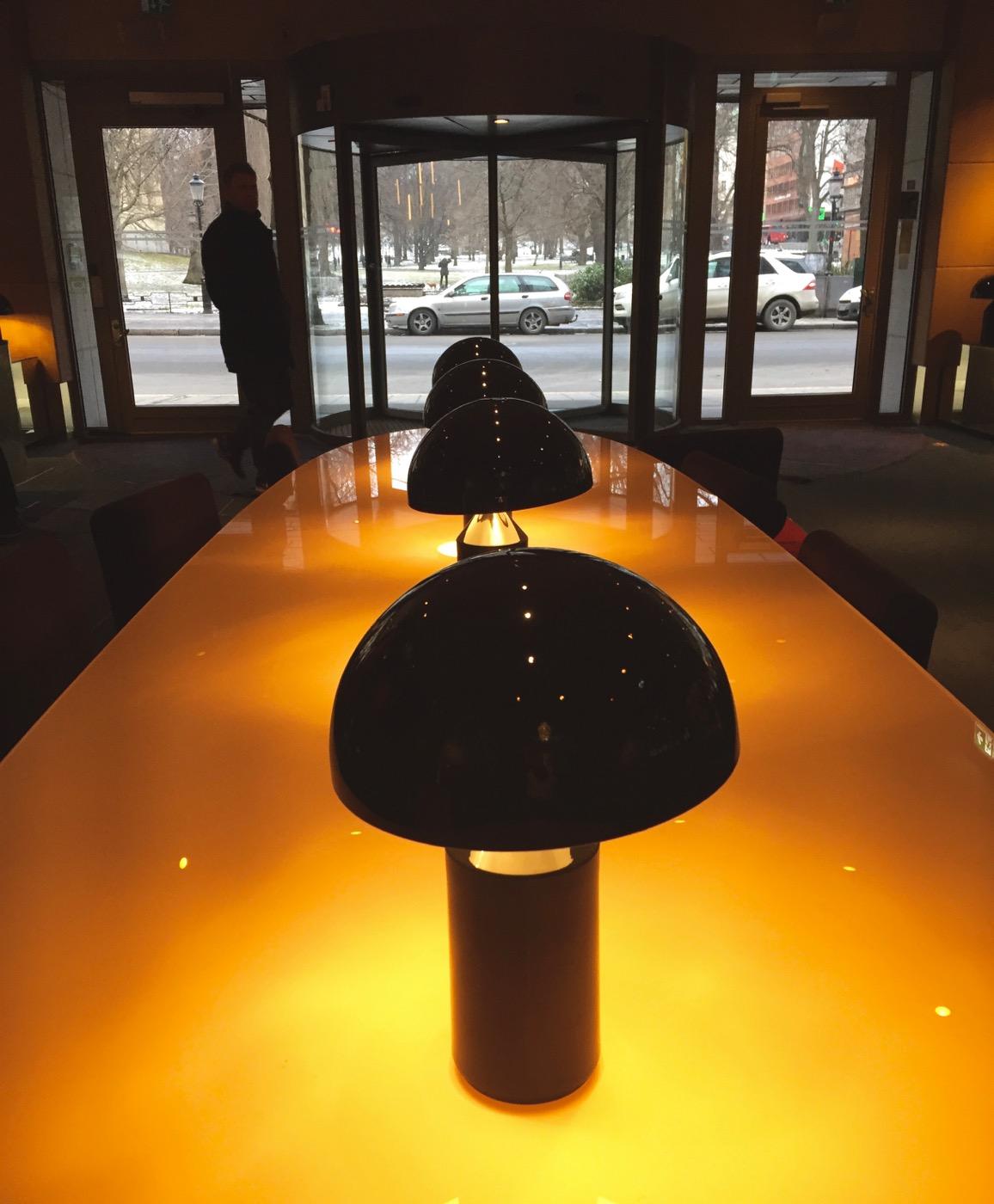 Scandic Anglais Stockholm reception table