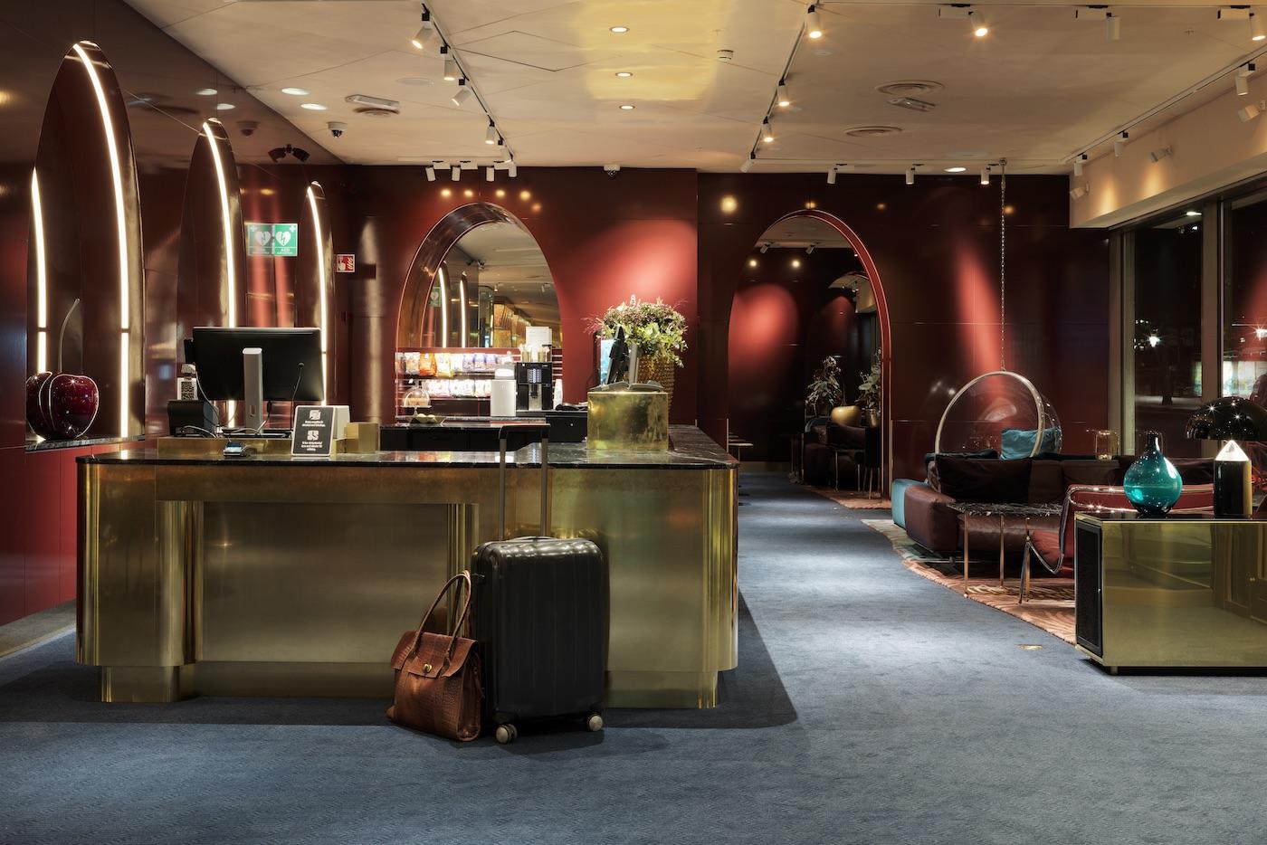 Interior photographs of Scandic Hotels