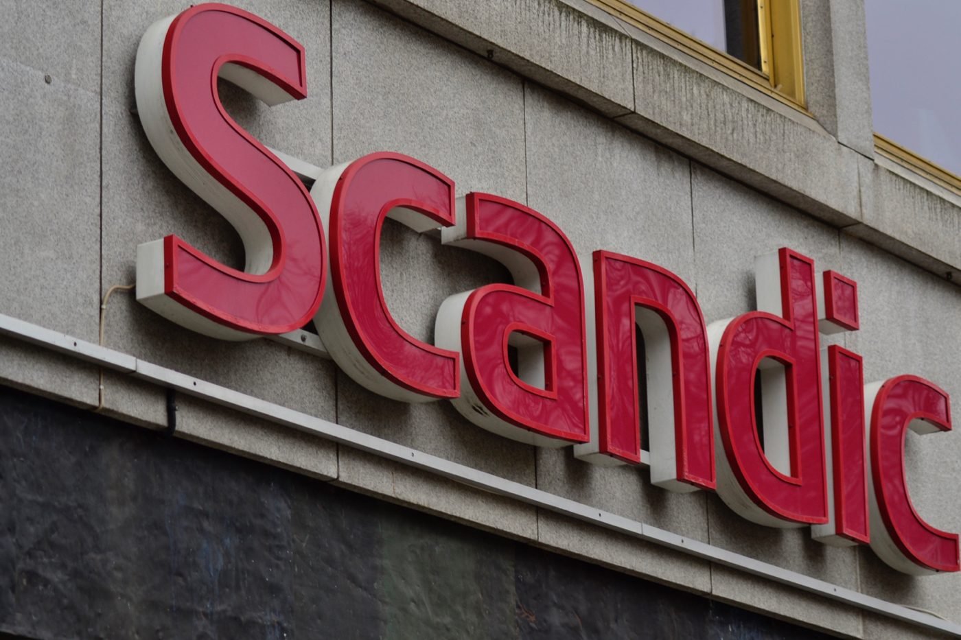 scandic anglais signage letters stockholm