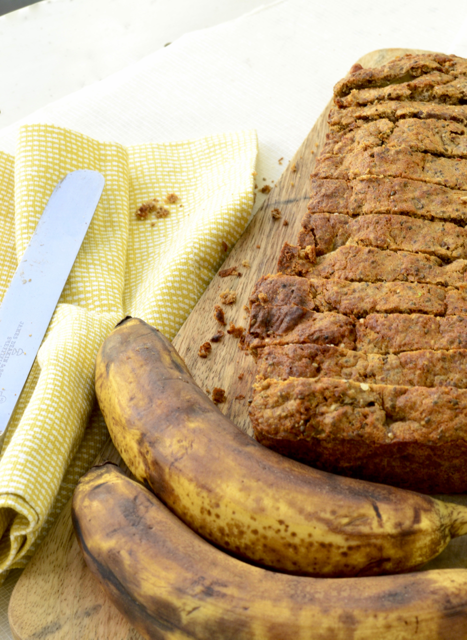 Banana Bread Chia Bia Sliced