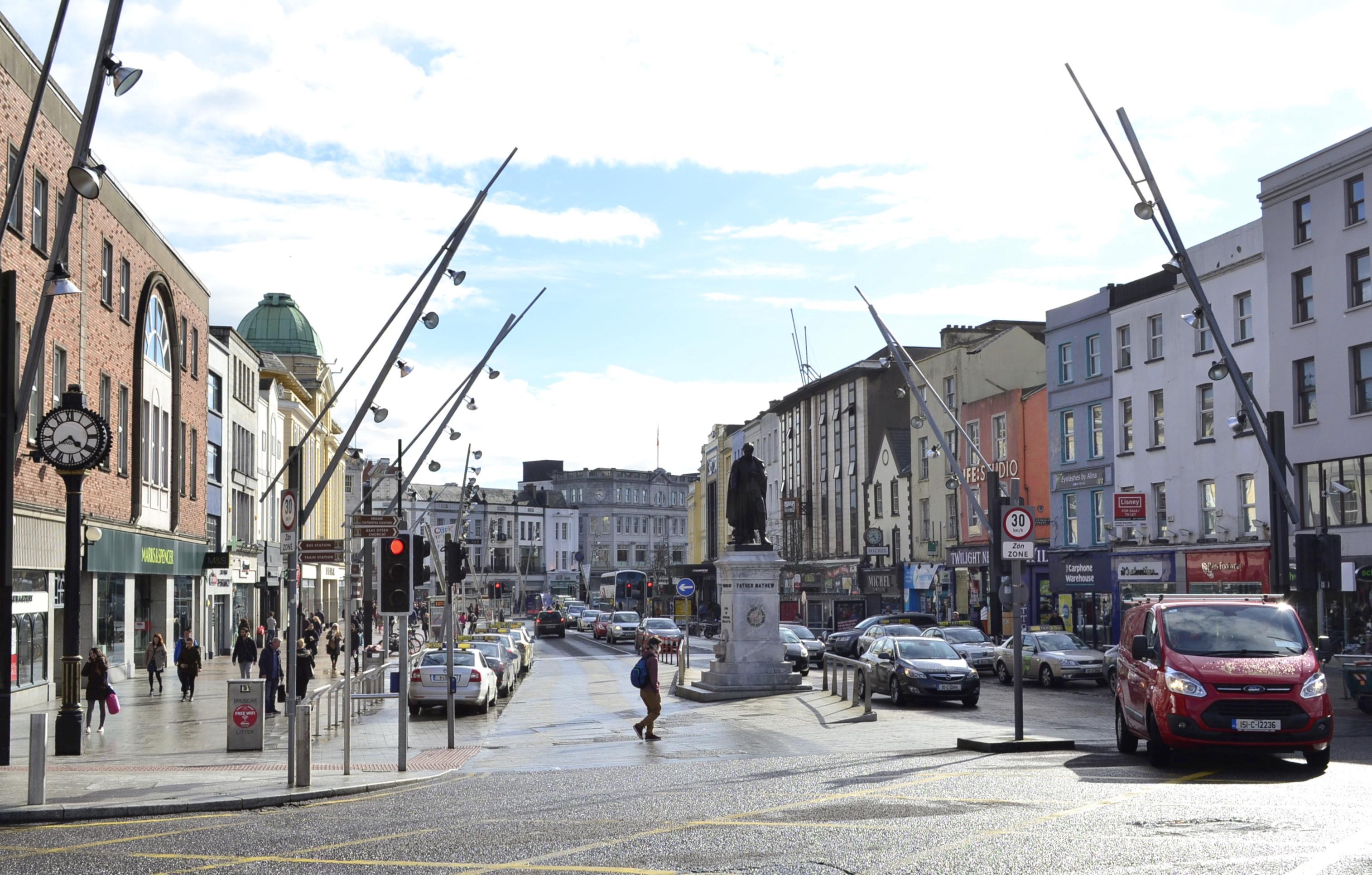 st. patrick's street cork, Cork main street, Cork city centre, visit cork, where to see in cork, gastrogays cork,