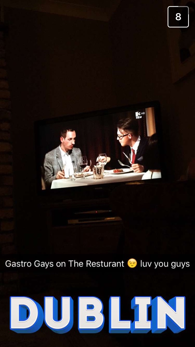 snapchat dublin gastrogays tv3 the restaurant
