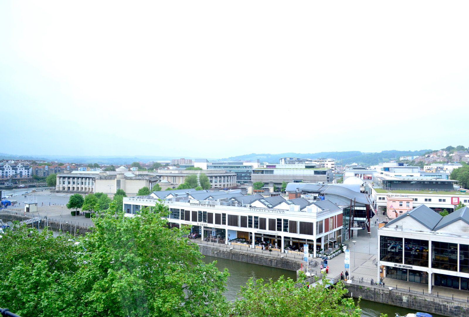 The Bristol view from the top floor room hotel