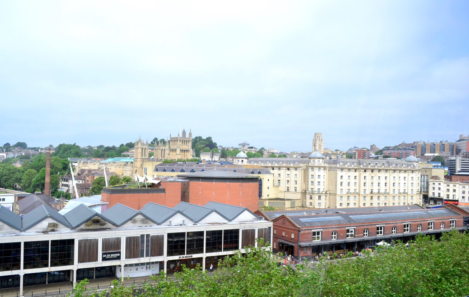 view 2 from top floor room The Bristol hotel