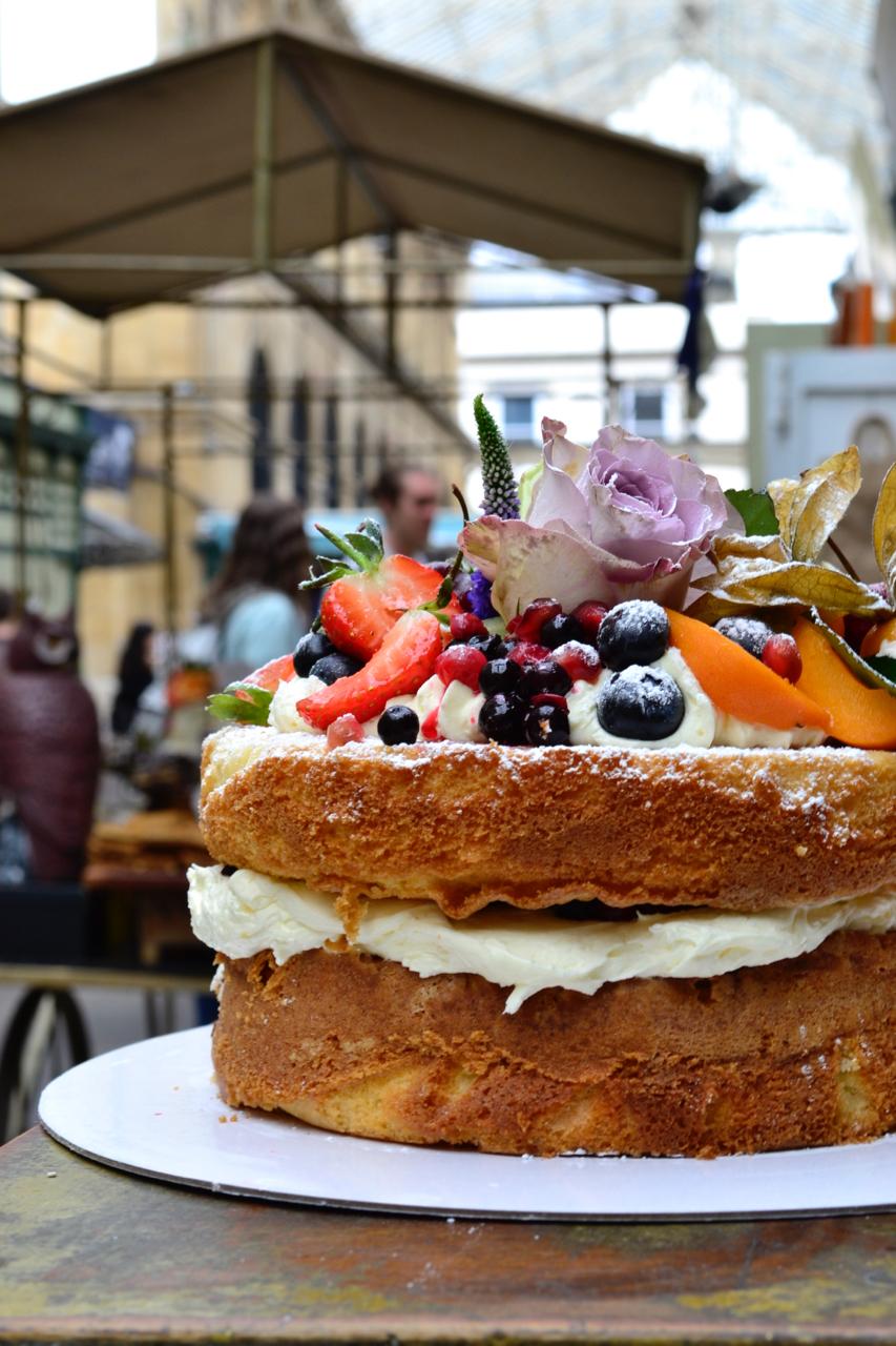 ah toots cake display st nicholas market bristol