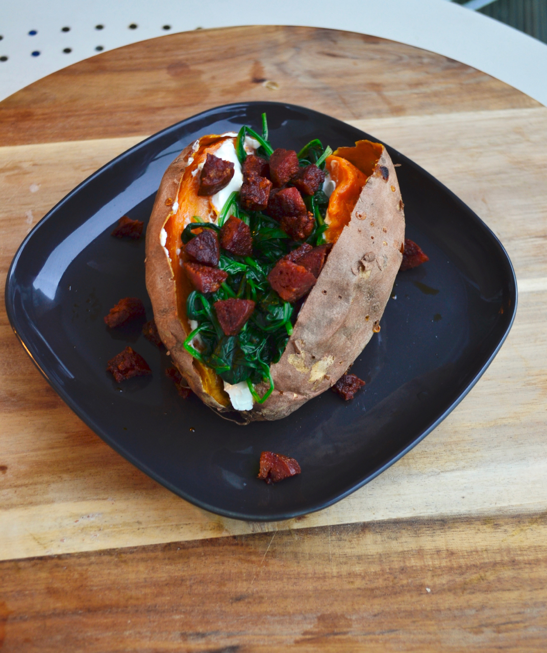 gastrogays recipe sweet potato chorizo eye level