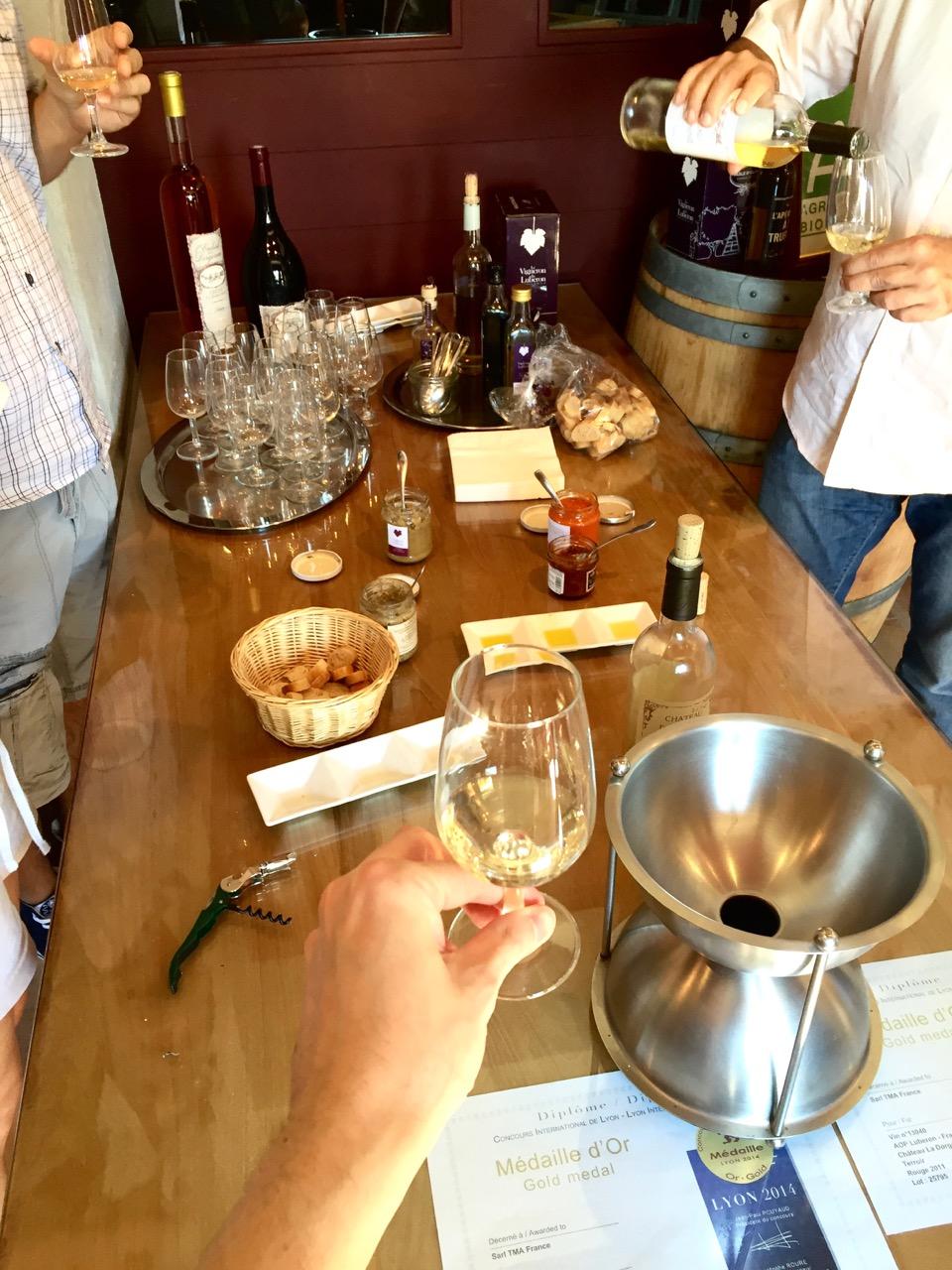 chateau dorgonne white wine tasting olive oil provence wine