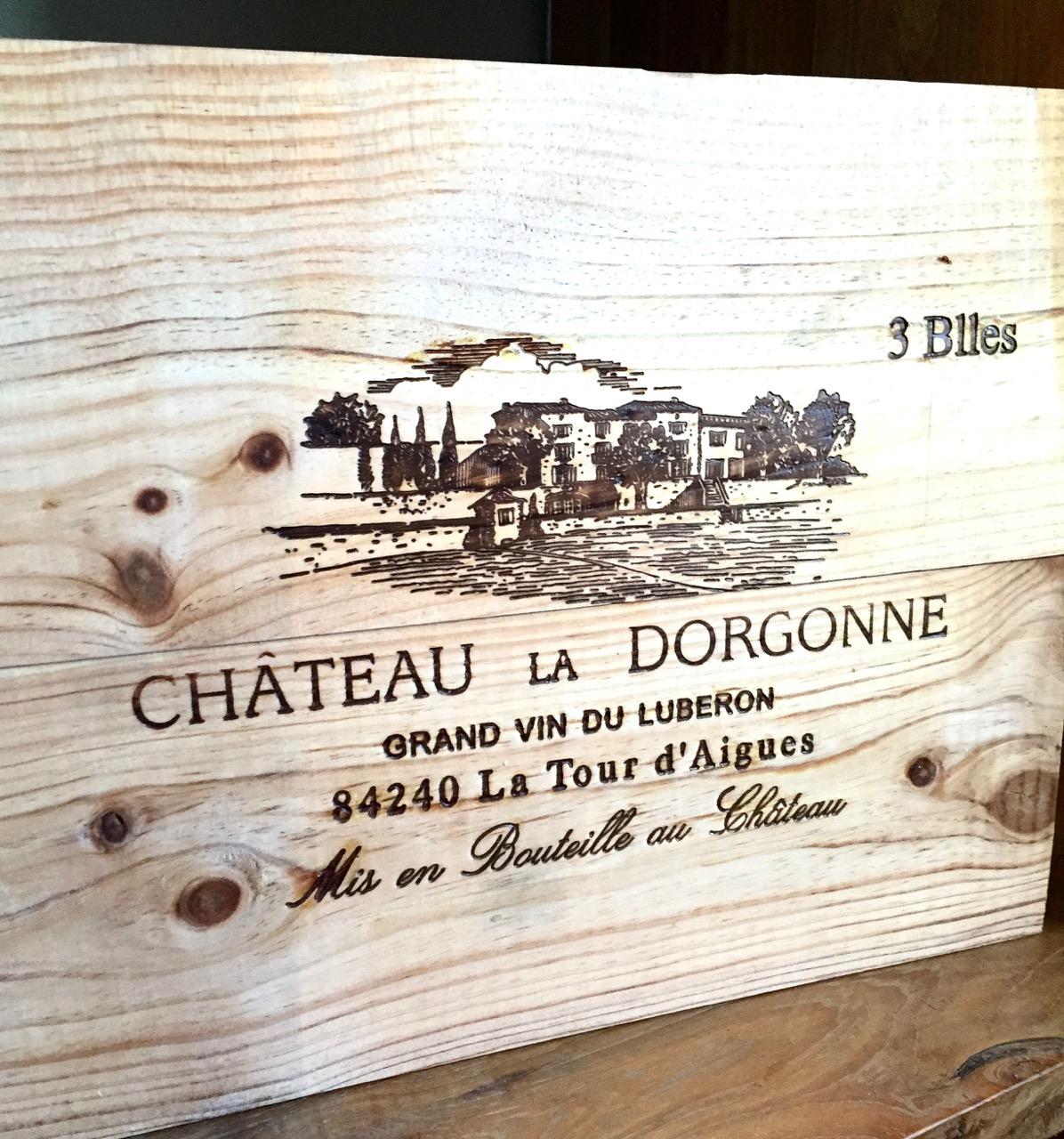 chateau la dorgonne wine box provence luberon