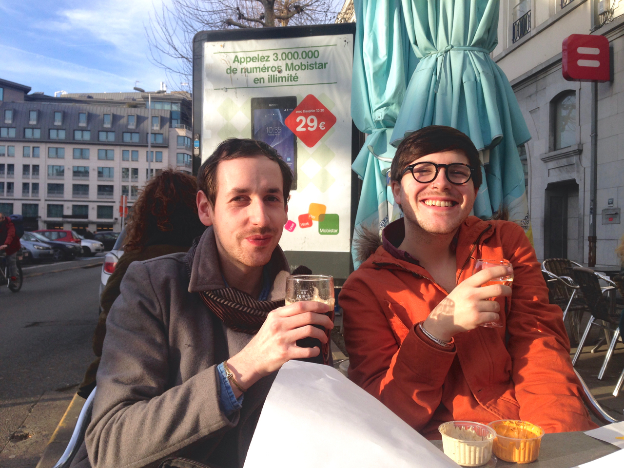 gastrogays beer terrace brussels frites drinks travel
