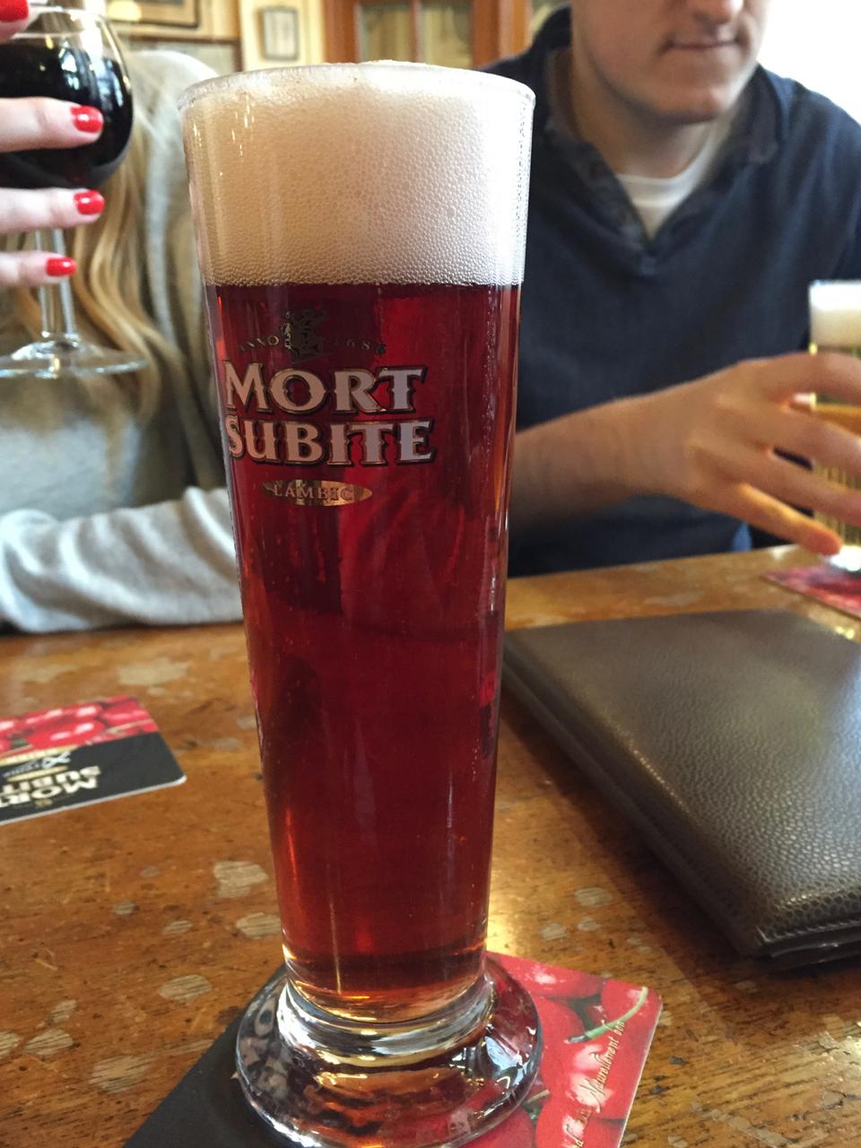 mort subite framboise beer raspberry gastrogays bar beer brussels