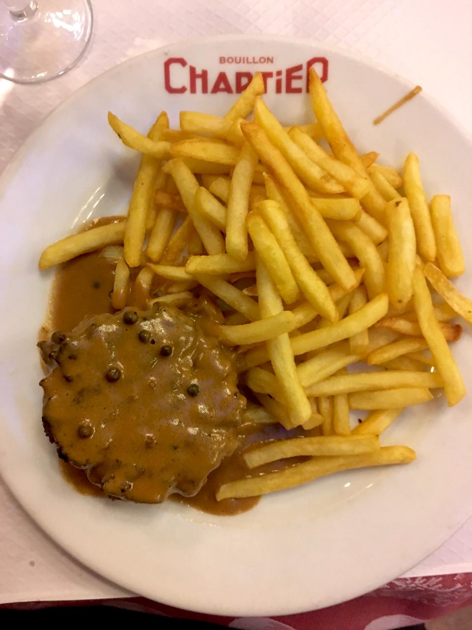 boullion chartier steak hache