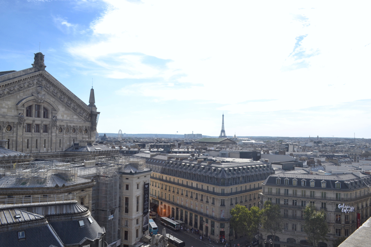 galeries lafayette paris view rooftop terrace gastrogays