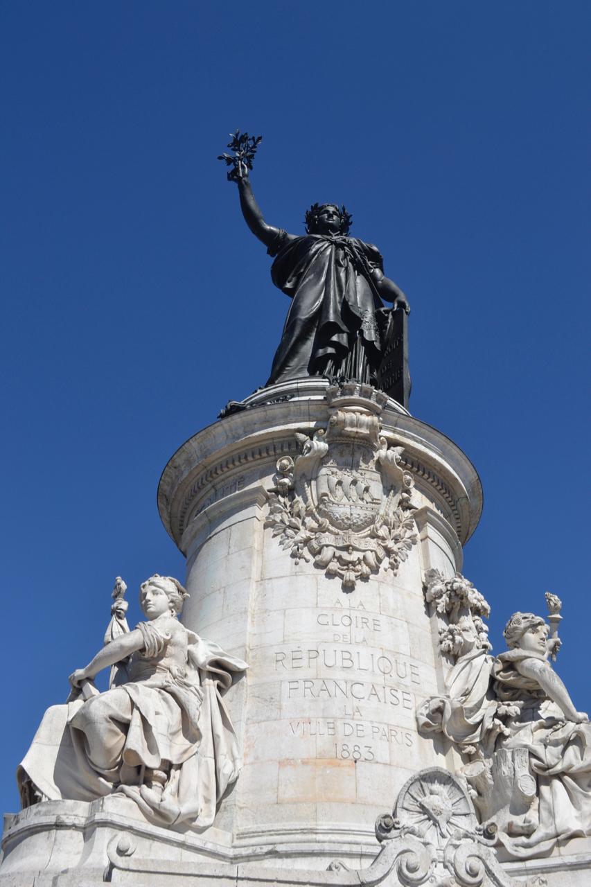 statue place de la republique paris france gastrogays