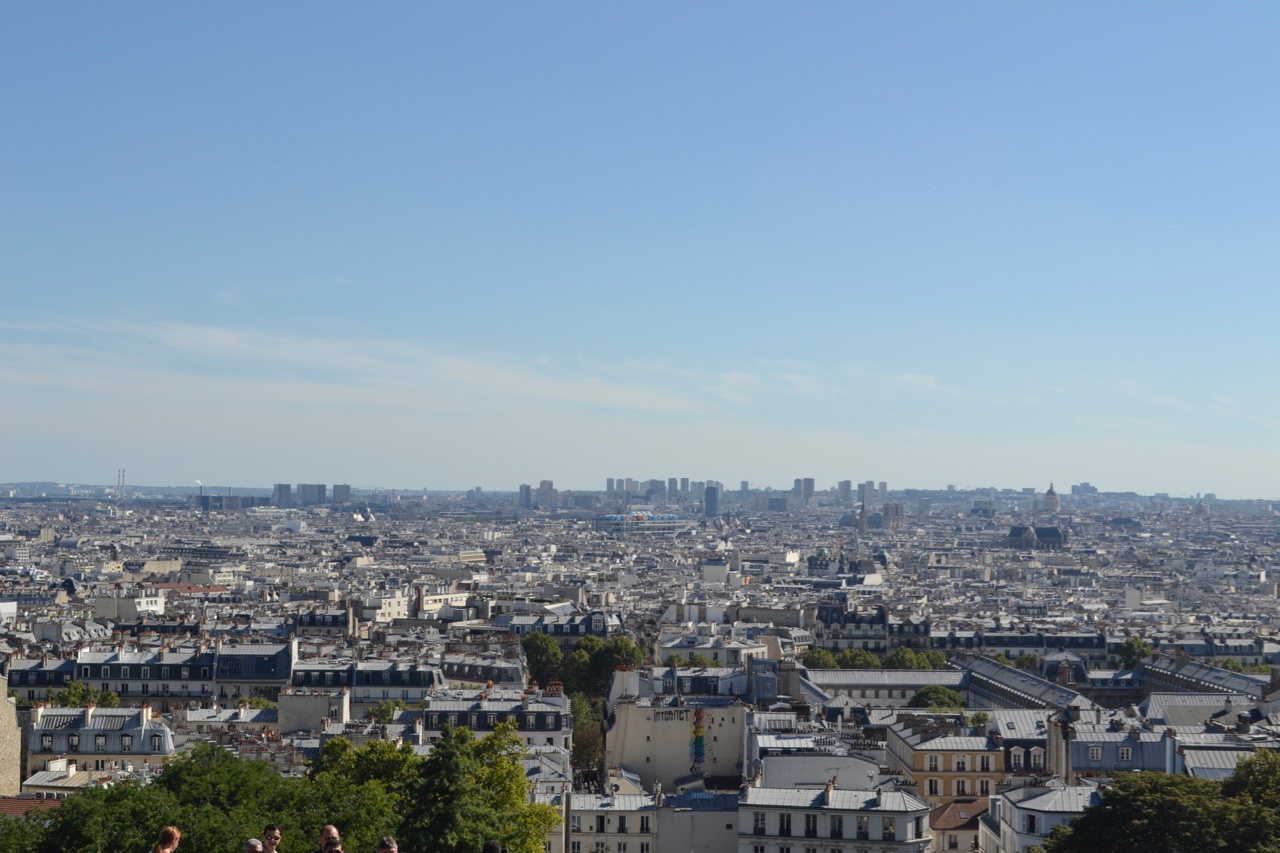 view from sacre coeur basilicia paris france montmarte gastrogays