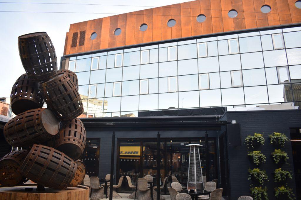 Bullitt Belfast courtyard view gastrogays
