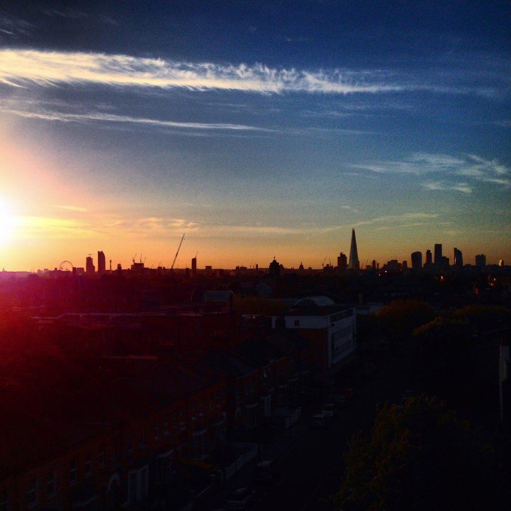 Peckham sunset skyline gastrogays