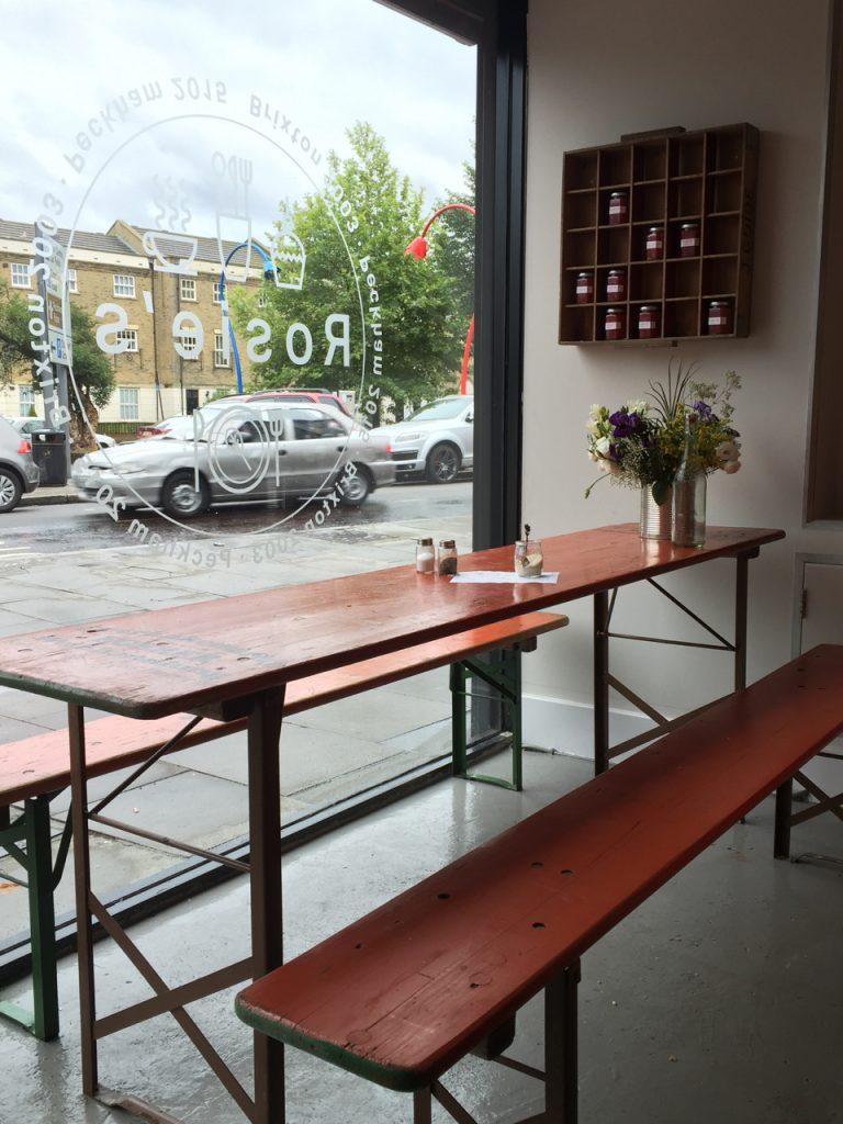 Rosies cafe Peckham gastrogays window seat