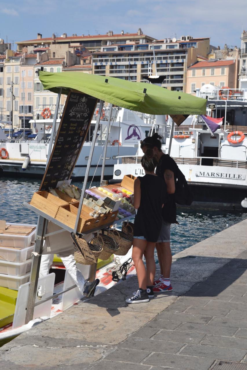 soap market stall marseille vieux port gastrogays