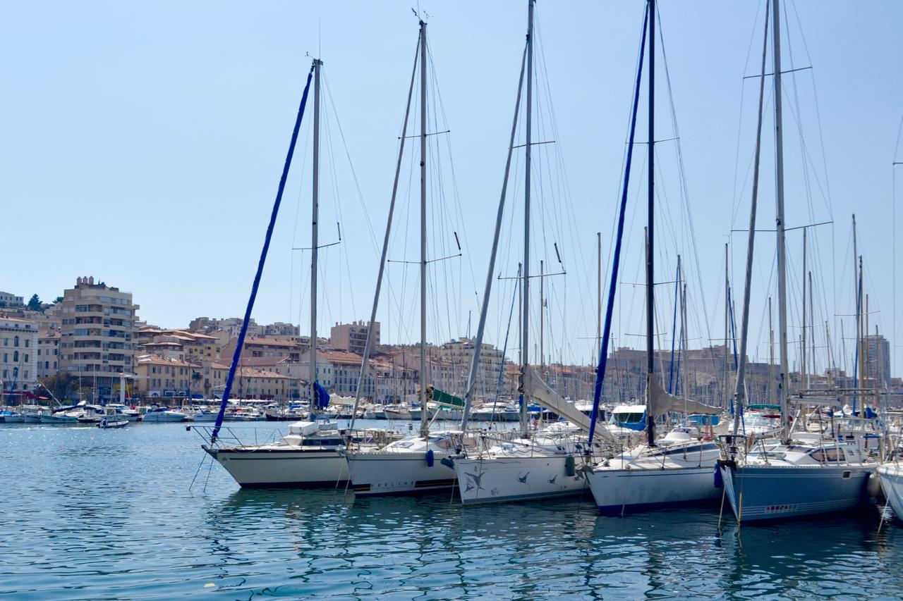 yachts port view marseille vieux port gastrogays masts